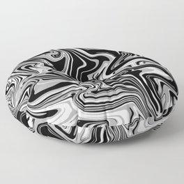 Black Marble Spill Floor Pillow