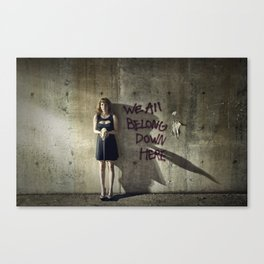 We All Belong Down Here Canvas Print