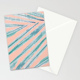 palm leaf coral Stationery Cards