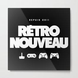 Rétro Nouveau (Blanc) Metal Print