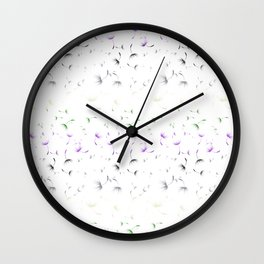 Dandelion Seeds Genderqueer Pride (white background) Wall Clock