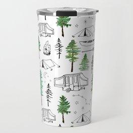 Camping and Trees Travel Mug