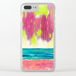 Lilly's Seascape Clear iPhone Case