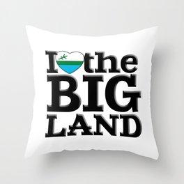 I heart the Big Land Throw Pillow