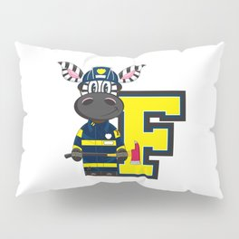 F is for Fireman Zebra Pillow Sham