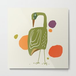 Quirky Brolga Metal Print