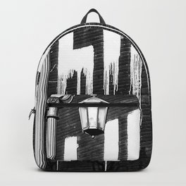 Life- Love of Life street graffiti mosaic inspirational black and white photograph / photography  Backpack