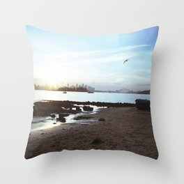 Milk Beach Throw Pillow