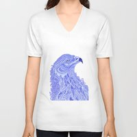 eagle V-neck T-shirts featuring Eagle by Olya Goloveshkina