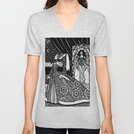 Snow White in the Mirror Unisex V-Neck