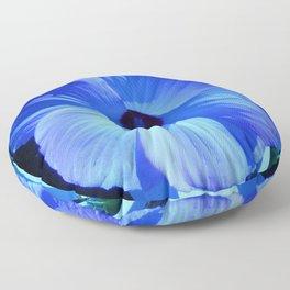 Blue Hibiscus Floor Pillow