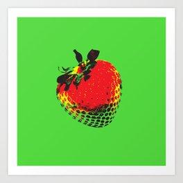 Strawberry Green - Posterized Art Print