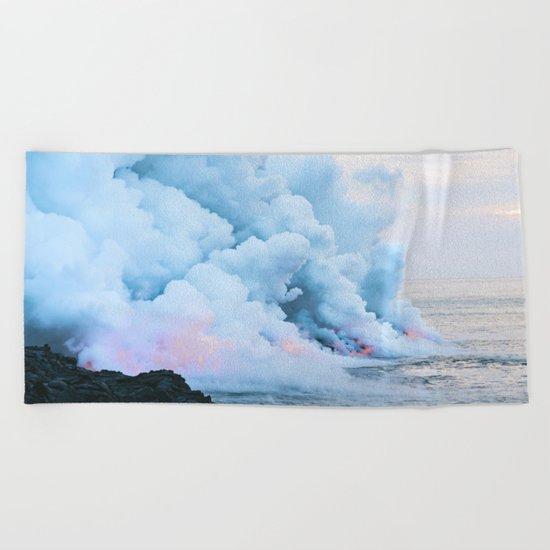 Smoke On The Water Beach Towel