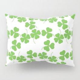 Lucky Shamrock Clover Leaves Pillow Sham