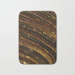 rox - abstract design rich brown rust copper tones Bath Mat