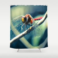 ruby Shower Curtains featuring Ruby by Faded  Photos
