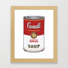 Camell's Soup CREAM OF BOBSLED Pop Art Framed Art Print