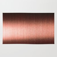 copper Area & Throw Rugs featuring Copper by Robin Curtiss