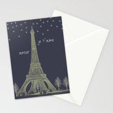 Paris Night Stationery Cards
