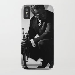 Black and White Photo of MilesDavis  iPhone Case