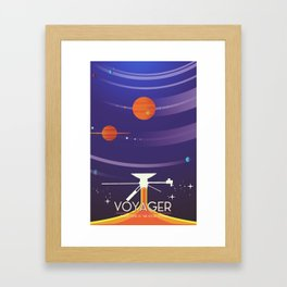 Voyager Grand Tour Science poster Framed Art Print