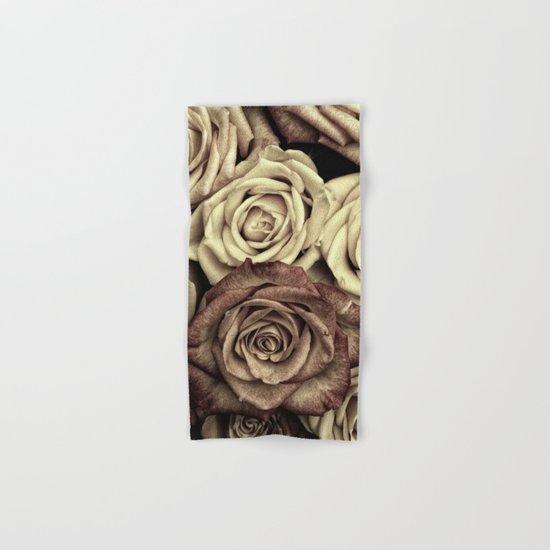 Brown Roses Hand & Bath Towel