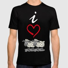 I Love Ewe Too Black MEDIUM Mens Fitted Tee