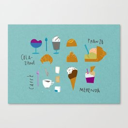 Sicilian diet - Summer edition Canvas Print