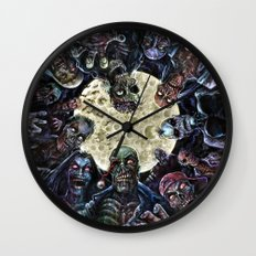 Zombies attack (zombie circle horde) Wall Clock