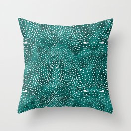 Whale Shark Skin (Teal and White Color) Throw Pillow