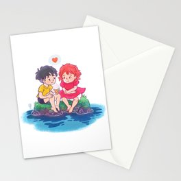 ponyo on the cliff by the sea Stationery Cards