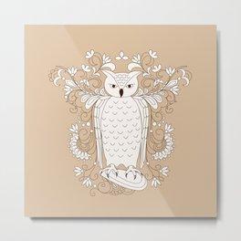 zen owl Metal Print