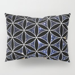 Flower of life in the space Pillow Sham