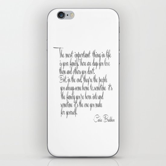 Most Important Thing Quotes, Life Sayings, Life Print Art iPhone Skin by  nikolajovanovic