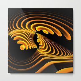 Golden Curl Metal Print