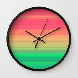 Tropical stripes Summer pattern Wall Clock