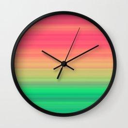 Tropical stripes Summer pattern Wall Clock