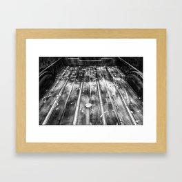 Truck Bed B&W Framed Art Print