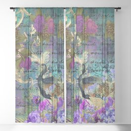 Feather peacock 22 Sheer Curtain