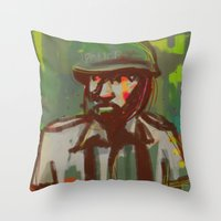 police Throw Pillows featuring Police by Steeze Abiola
