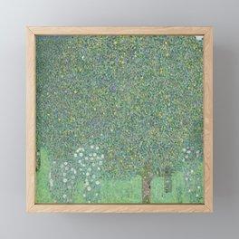 Gustav Klimt - Rosebushes Under the Trees Framed Mini Art Print
