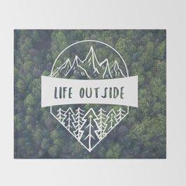 Life Outside Throw Blanket