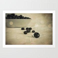 blue berries Art Print
