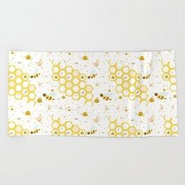 Honey Bees Beach Towel