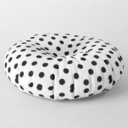 Polka Dot White And Black Floor Pillow