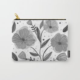 Spring flowers - black and white Carry-All Pouch