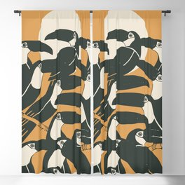 Black birds Blackout Curtain