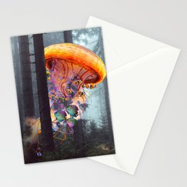 ElectricJellyfish Worlds in a Forest Stationery Cards