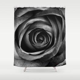 Black Rose Flower Floral Decorative Vintage Shower Curtain