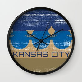 Big Bleu Design Kansas City Royal Wall Clock